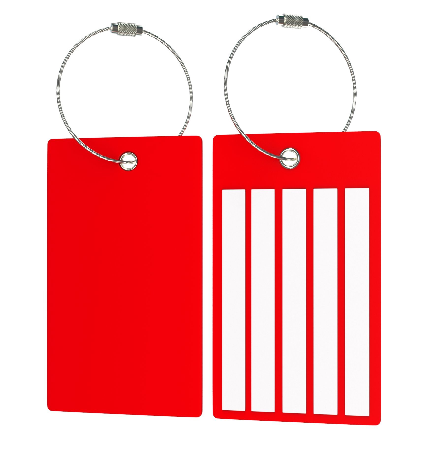 Travel Suitcase Luggage Bag Tags, Airlines Baggage Labels (4 Tags Red)