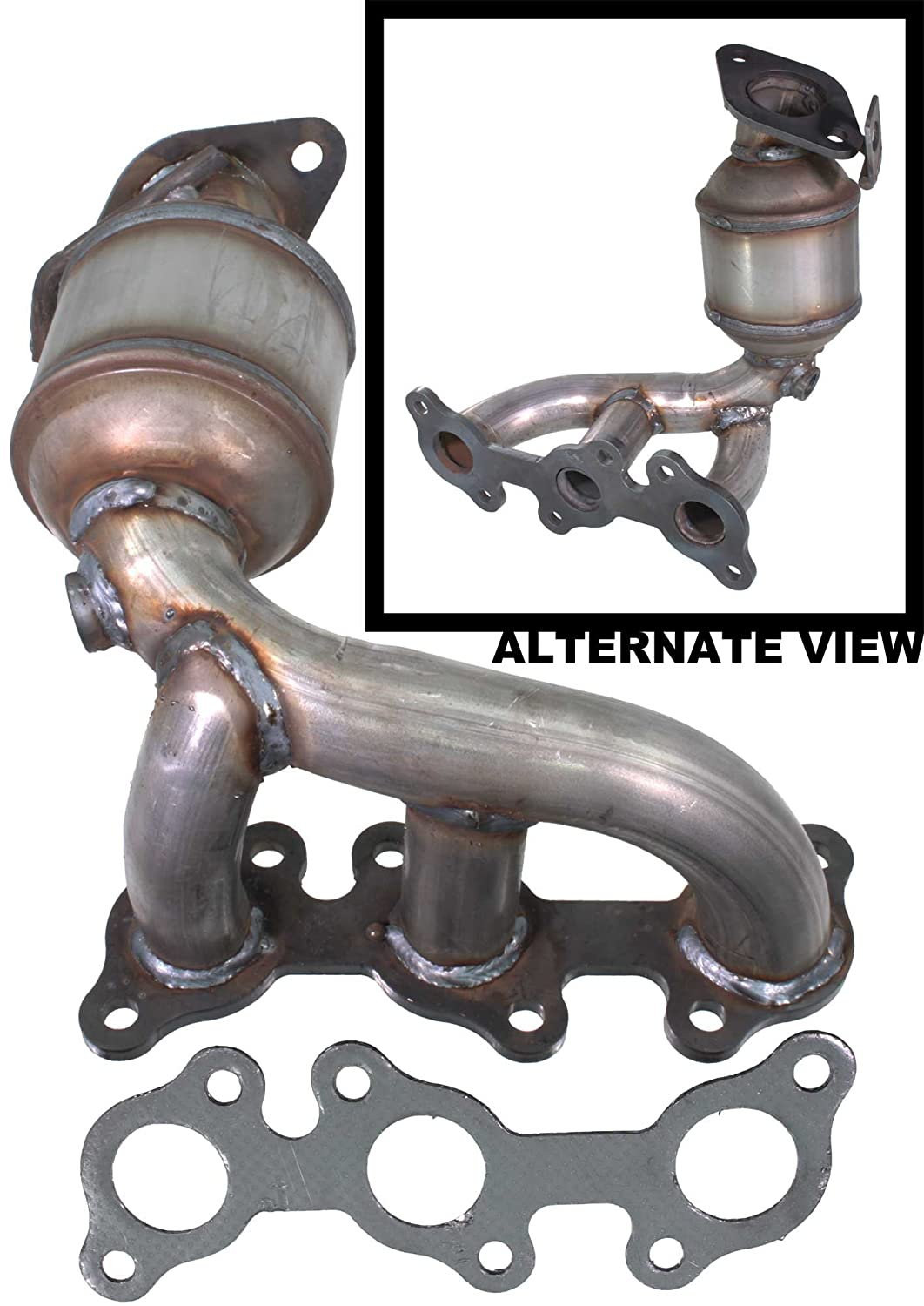 Apdty 112866 Exhaust Manifold Catalytic Converter Fits Saturn Vue System Front 30l V6 1999 2001 Lexus Es300 1998 2004 Toyota Avalon Camry
