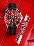 Ferrari Pilota Men's Red Dial Silicone Watch - 830595