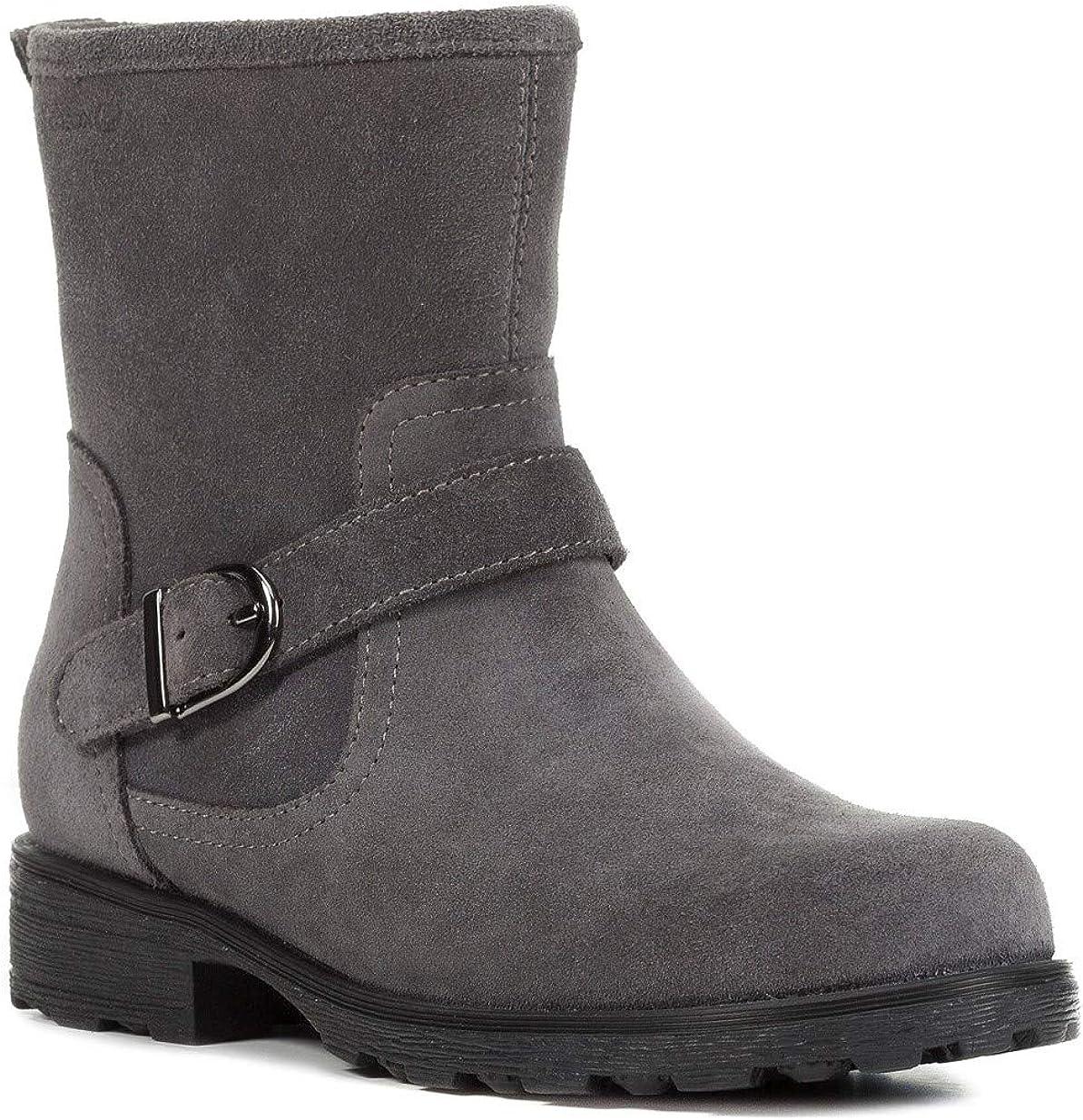 Geox J84A5B Olivia Stivali Modischer M/ädchen Leder Stiefel warm gef/üttert Schlupfstiefel mit seitlichem Rei/ßverschluss atmungsaktiv Biker Boot