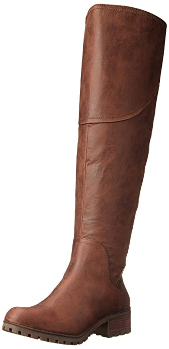 Lucky Womens Harleen Riding Boot, Storm, 6.5 M US Lucky Brand