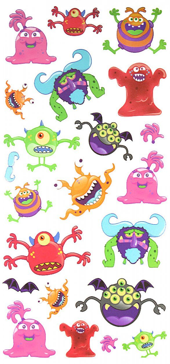 Wonbeauty fake realistic tattoo stickers for children, carton tattoos including many terrible animal monsters