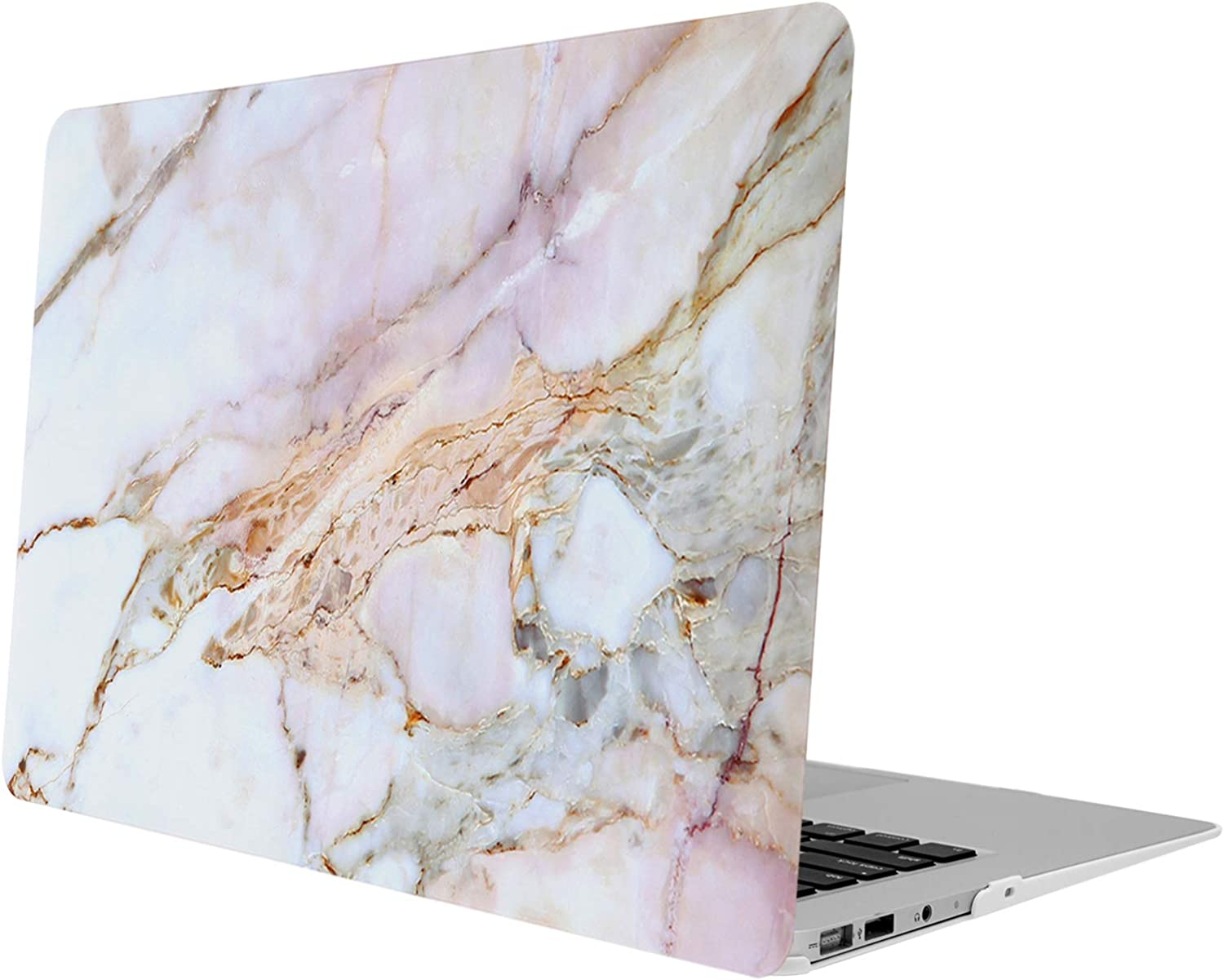 iDonzon MacBook Air 13 Case (Model: A1466 & A1369, 2010-2017 Release), Soft-Touch Matte Plastic Hard Protective Case Cover Only Compatible MacBook Air 13.3 inch - Colorful Marble