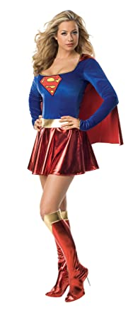 Secret Wishes Supergirl Costume Red/Blue X--Small  sc 1 st  Amazon.com & Amazon.com: Secret Wishes Supergirl Costume: Clothing