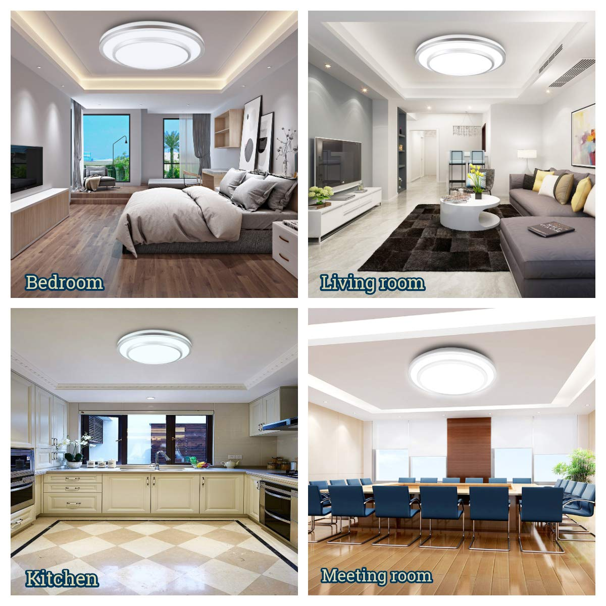 DLLT 48W Dimmable Led Flush Mount Ceiling Light Lighting with Remote-20 Inch Close to Ceiling Lights Fixture for Bedroom/Living Room/Dining Room, 3000K-6000K Color Changeable by DINGLILIGHTING (Image #3)