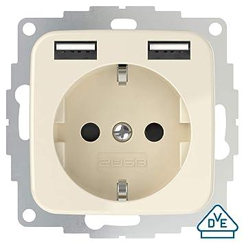 2USB inCharge Pro SI - Enchufe con protección de contacto con ...