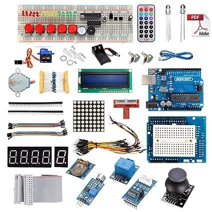 Festnight UNO R3 Starter Kit para Arduino 1602LCD Servo ...