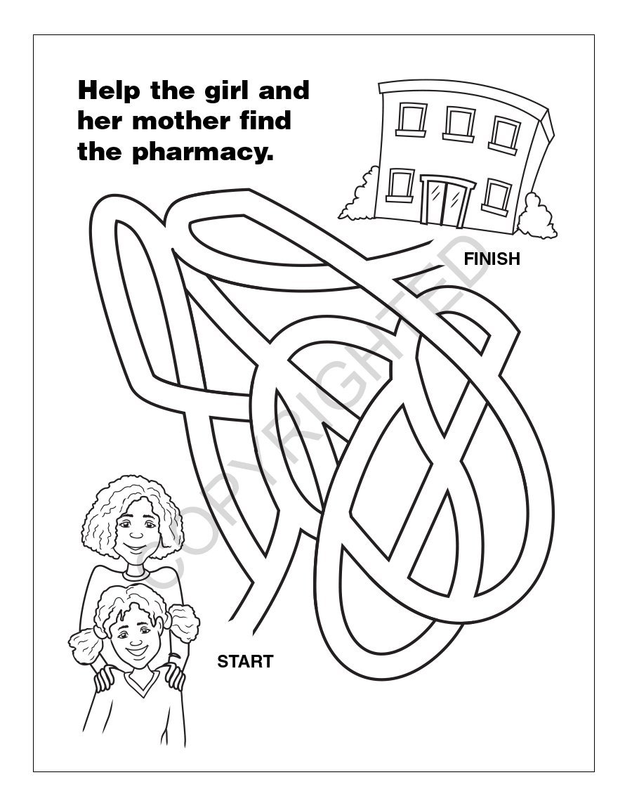 A Trip to The Pharmacy Kid's Coloring & Activity Books in Bulk (Quantity of 250) - Customize with Your Information - Pharmacy Promotional Item by Safety Magnets (Image #5)