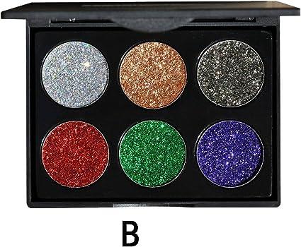 Moretime - Sombra de ojos con purpurina en polvo mate cosméticos para sombras de ojos, juego de maquillaje para mujeres y niñas, multicolor: Amazon.es: Belleza