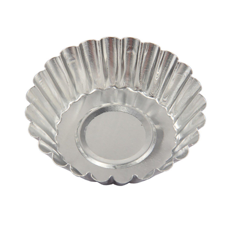 7cm Diameter 10pcs Thickened Aluminum Chrysanthemum Egg Tart Egg Tart Mold SHUTAO 180303