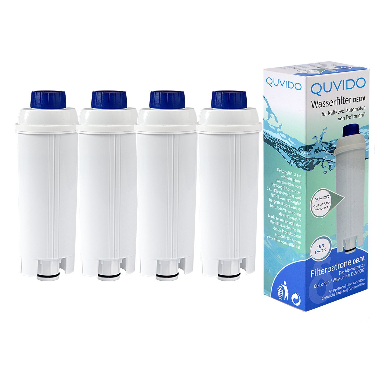 QUVIDO 4 x Filtro de agua Delta para Delonghi cafetera eléctrica ...