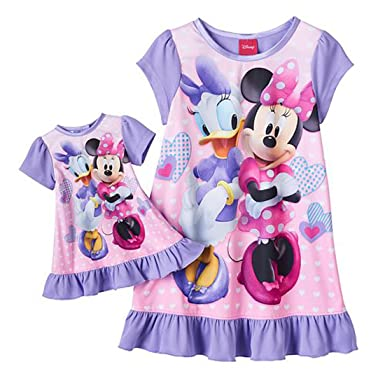 amazon com disney minnie mouse daisy little girls nightgown with