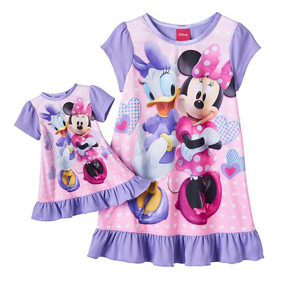 AME Disney Minnie Mouse & Daisy Little Girls Nightgown with Doll ...