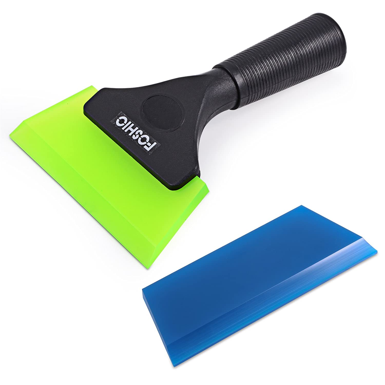 FOSHIO 5 Inch Pro Squeegee with Beveled Rubber Blade Black Plastic Handle Durable Rubber Squeegee for Window Tinting, Car Vinyl, Vehicle Wrapping ,Window Glass Tint Tool 4332945828