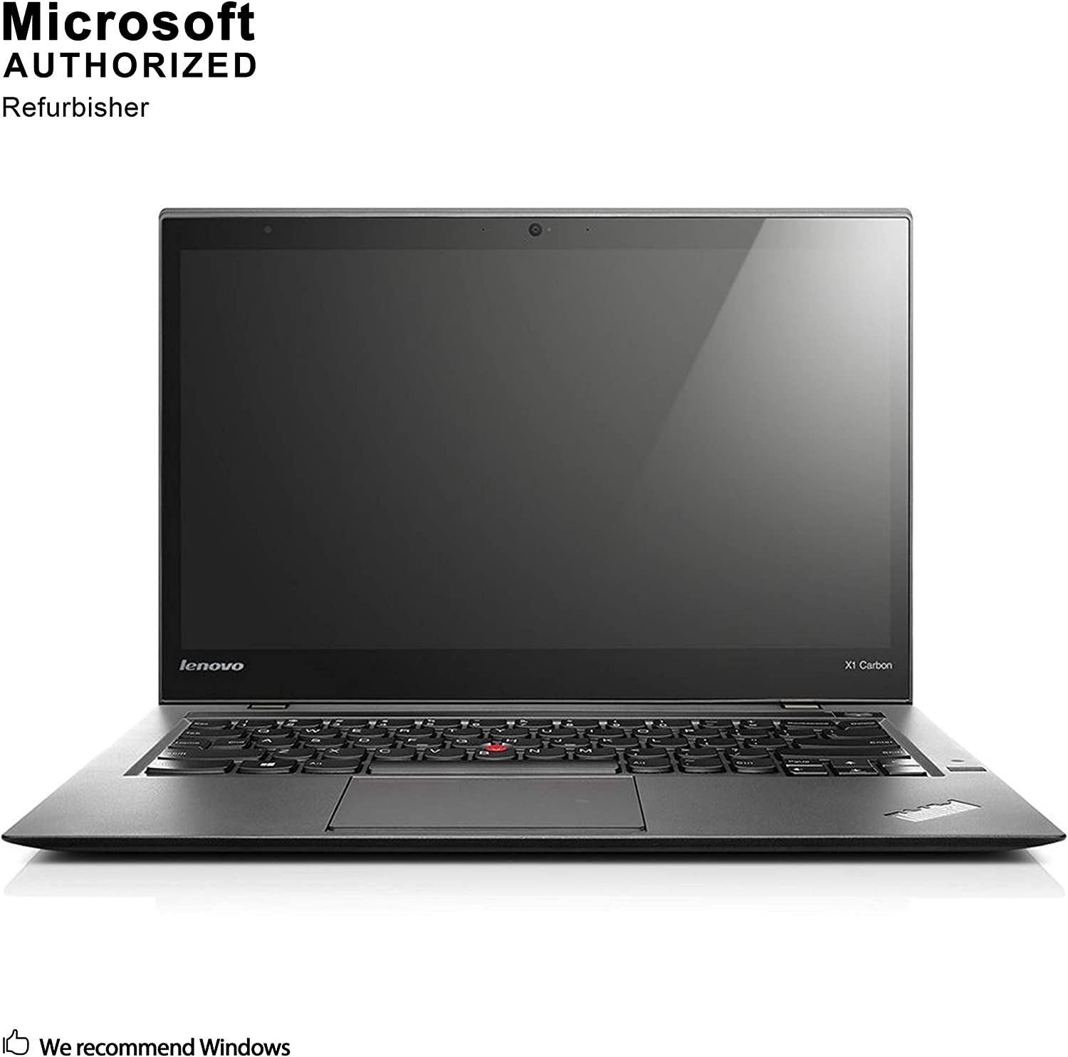 Lenovo ThinkPad X1 Carbon 14 Inch Laptop, Intel Core i5-6200U up to 2.8GHz, 8G DDR3, 256G SSD, WiFi, HDMI, MDP, Win 10 Pro 64 Bit Multi-Language Support English/French/Spanish(Renewed).