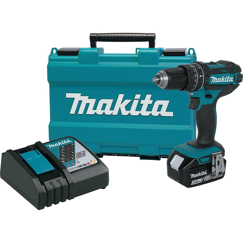 Makita XPH102 18V LXT Lithium-Ion Cordless 1/2'' Hammer Driver-Drill Kit (3.0Ah)