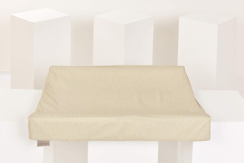 Wickelunterlage-Bezug aus 100/% Baumwolle KraftKids Bezug f/ür Keilwickelauflage Chevron dunkelblau Wickelbezug in 50 x 70 cm tief abwaschbar