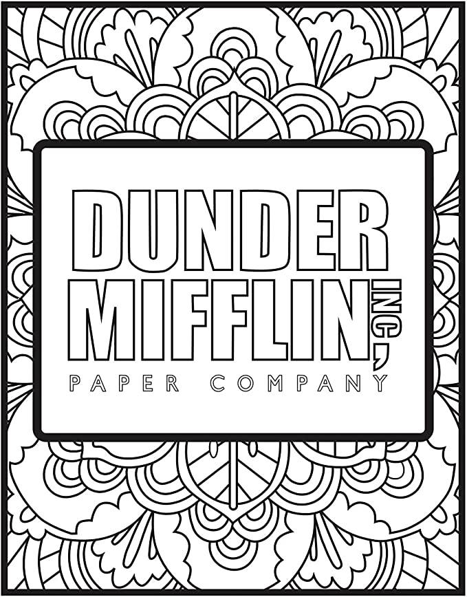 The Office - Dunder Mifflin Paper Company' Themed Coloring Book
