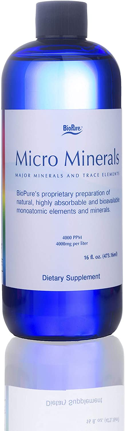 BioPure MicroMinerals Clear – Major Minerals and Trace Elements 16 fl oz, Liquid