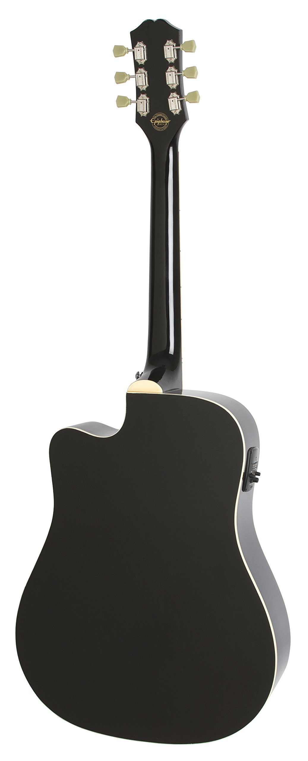 Epiphone Pro-1 Ultra Solid Top Acoustic/Electric Guitar System for Beginners, Gloss Ebony