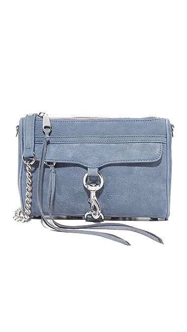 88a8367e5 Amazon.com: Rebecca Minkoff Women's Mini Mac Cross Body Bag, Dusty Blue,  One Size: Shoes
