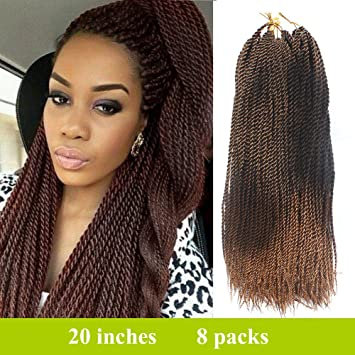 Amazoncom 8 Packs 20 Inch Senegalese Twists Style Crochet Braids
