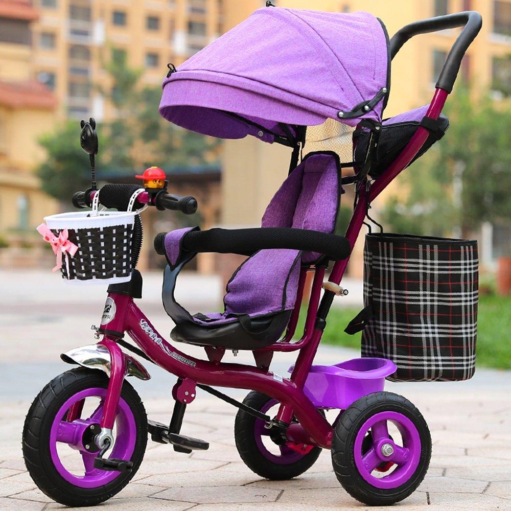インフレータブルトロリー、赤ちゃんの乳母車、自転車、子供の三輪車、子供の自転車 ( 色 : パープル ぱ゜ぷる ) B078L255Y4 パープル ぱ゜ぷる パープル ぱ゜ぷる