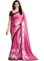 Shivalika Tex Women's Georgette Saree With Blouse Piece (Purple_Fwr_Purple)