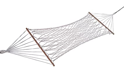 Hangit White Rope Hanging Hammock Swing for Adults Weight Capacity 120 Kg (Polyester) 36''W X 11'FT