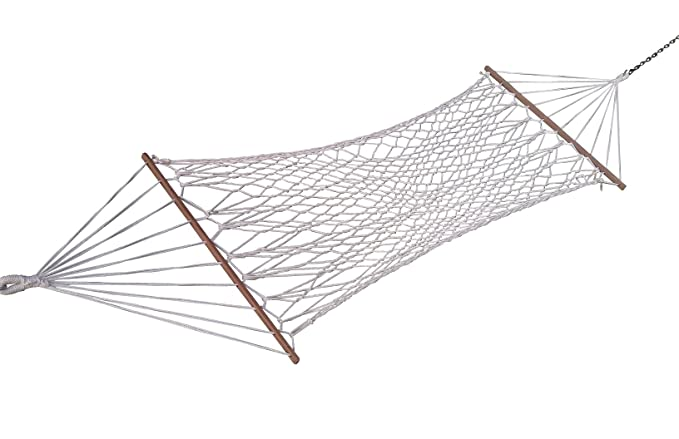 Hangit 36W X 11FT White Cotton Rope Hammock Swing