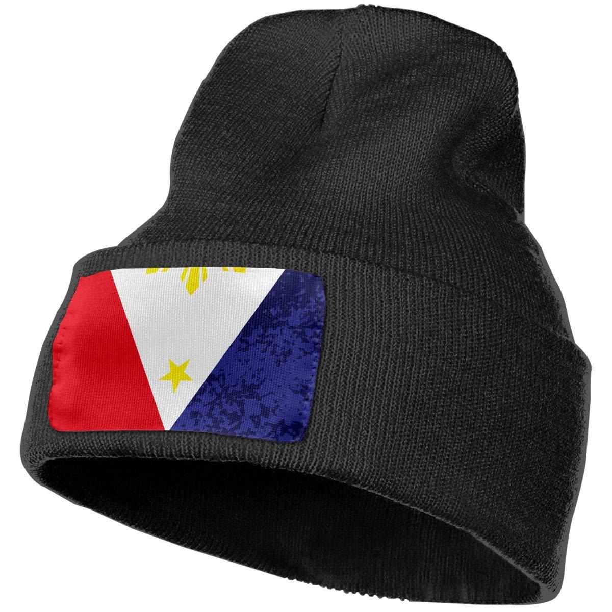 Sheery Filipino Flag Casual Knit Cap for Men Women 100/% Acrylic Acid Skull Cap Woolen Hat