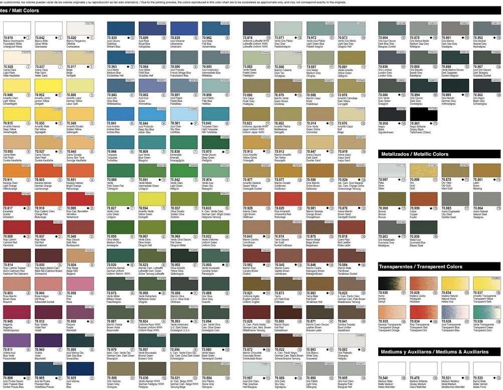 PACK 10 botes Model Color Vallejo pintura acrilica: Amazon.es ...
