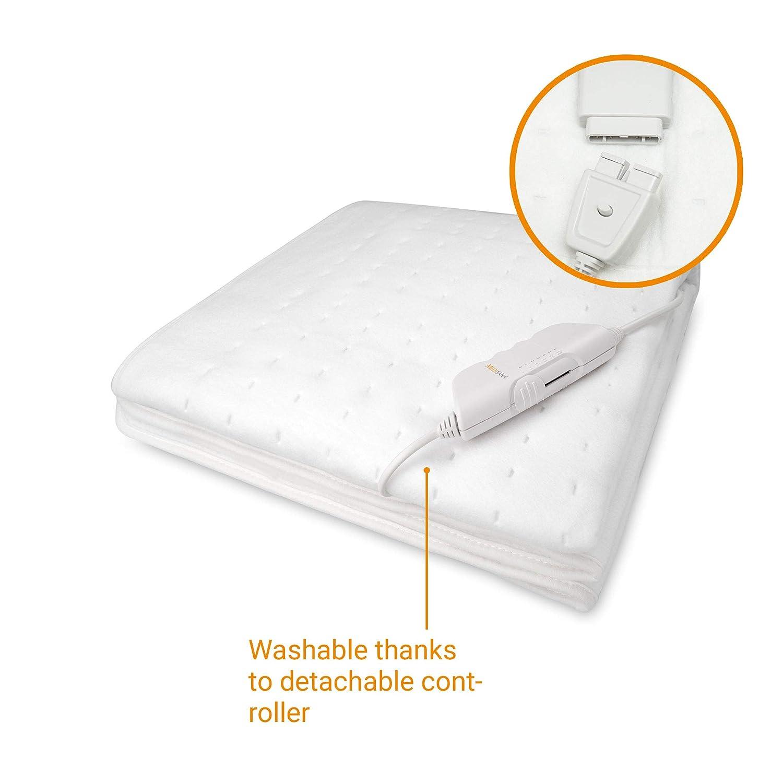 Medisana HU 662 Calientacamas, 150 x 80 cm, desconexión automática, 6 niveles de temperatura, lavable, calefacción de colchón adecuada para todos los ...