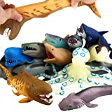 """ValeforToy Ocean Sea Animal, 8"""" Rubber Bath Toy Set(8 Pack Random), Food Grade Material TPR Super Stretches, Some Kinds…"""