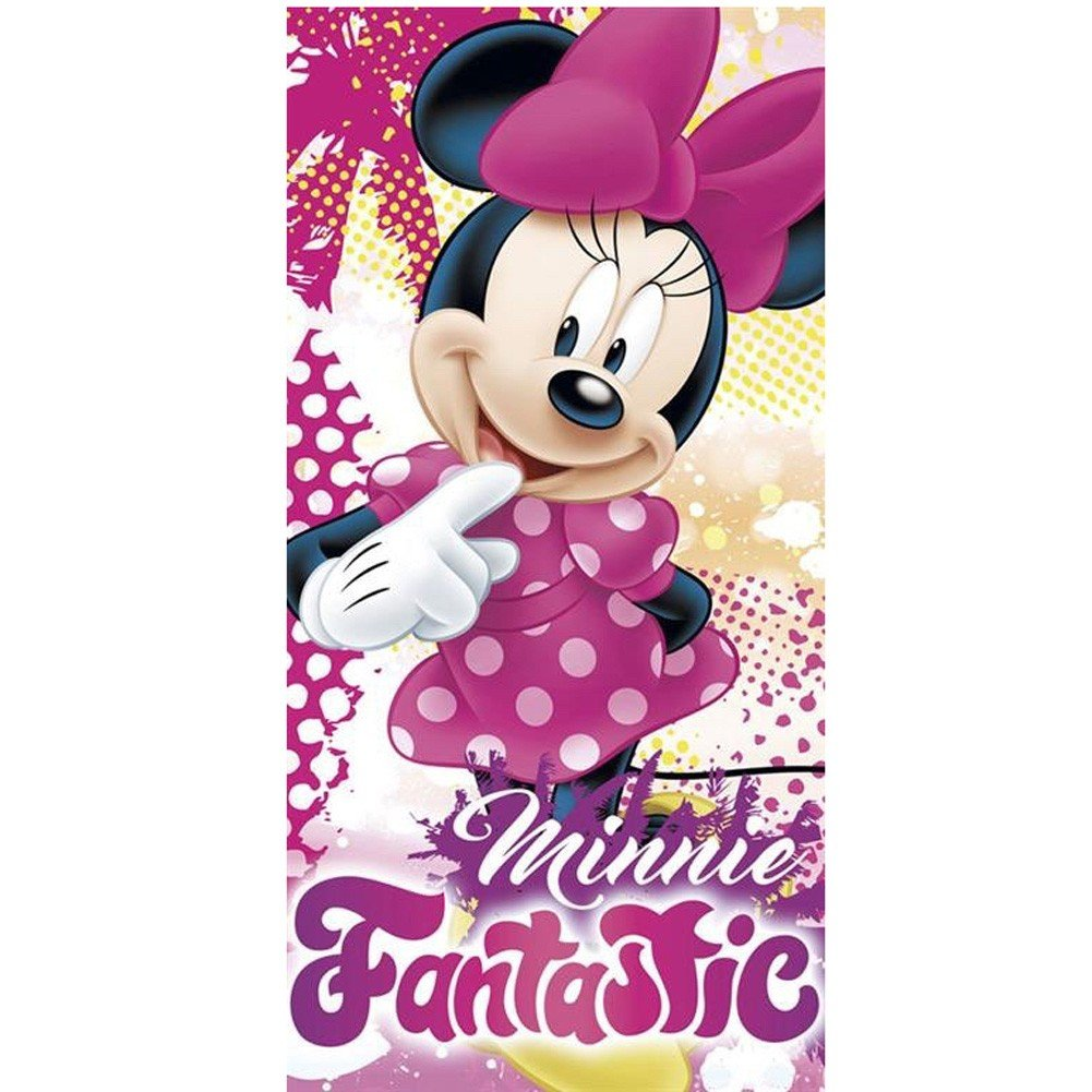 Kids Euroswan Toalla con Diseño Minnie, Algodón, Rosa, 0.5x70x140 cm: Amazon.es: Hogar