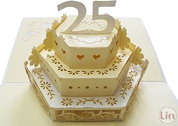 Amazon Com Lin Pop Up Greeting Card For A Wedding