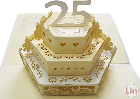 Anniversario Ufficio : Lin pop up d biglietto di auguri per il anniversario del
