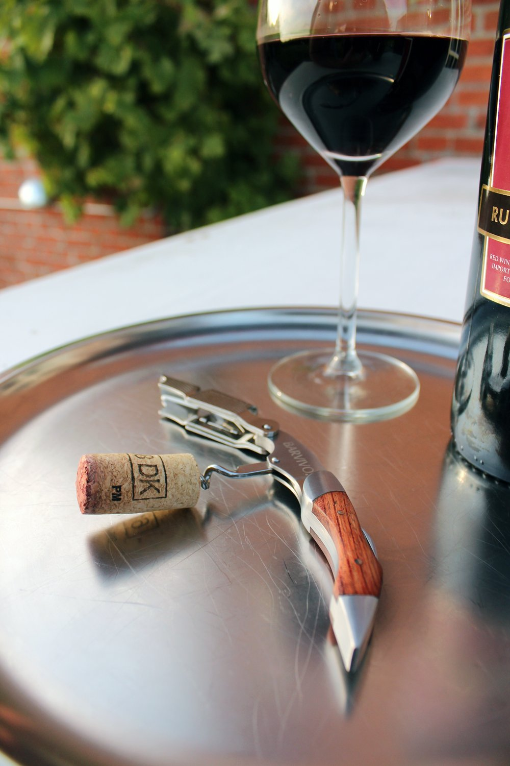 Professional Waiters Corkscrew by Barvivo - This Wine Opener is Used to Open Beer and Wine Bottles by Waiters, Sommelier and Bartenders Around the World. Made of Stainless Steel and Natural Rosewood. by Barvivo (Image #3)