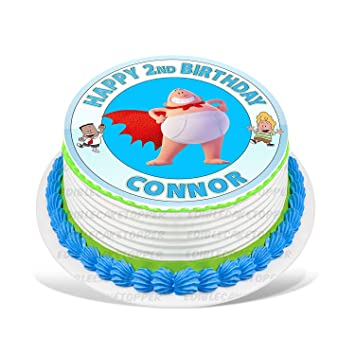 Captain Underpants Edible Cake Topper Personalized Birthday 10 ...
