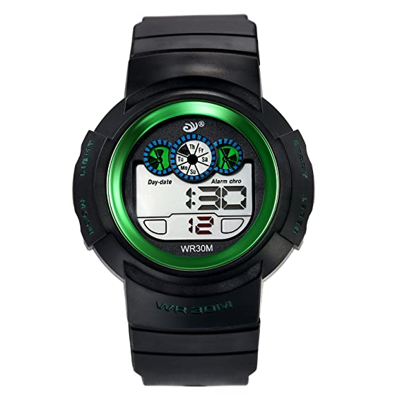 Digital Relojes para niños 30 m Resistente al agua Outdoor Sports Analog Reloj de pulsera con