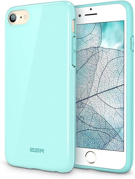 ESR Cover iPhone 7, Custodia Protettiva di TPU [Anticaduta, Antiscivolo, Antigraffio] Ultra Sottile per Apple iPhone 7 da 4.7''.(Verde acqua)