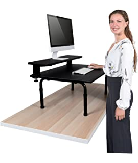 Amazoncom 32 Wide Adjustable Height Standing Desk Convert