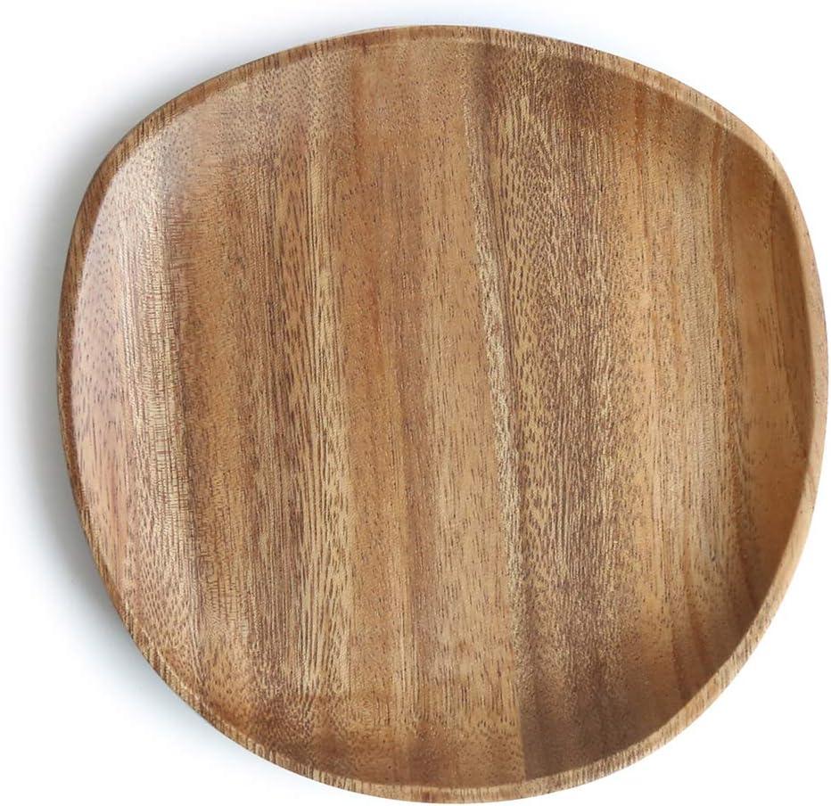 comme Image Show 16x13cm Bois Ovale Soucoupe Multi Usage Vaisselle Irreguli/ère Forme Couleur Unie Durable Po/êle Fruit Assiette Fruit Plateau Plat Dessert GCDN Bois Ovale Service de Plat