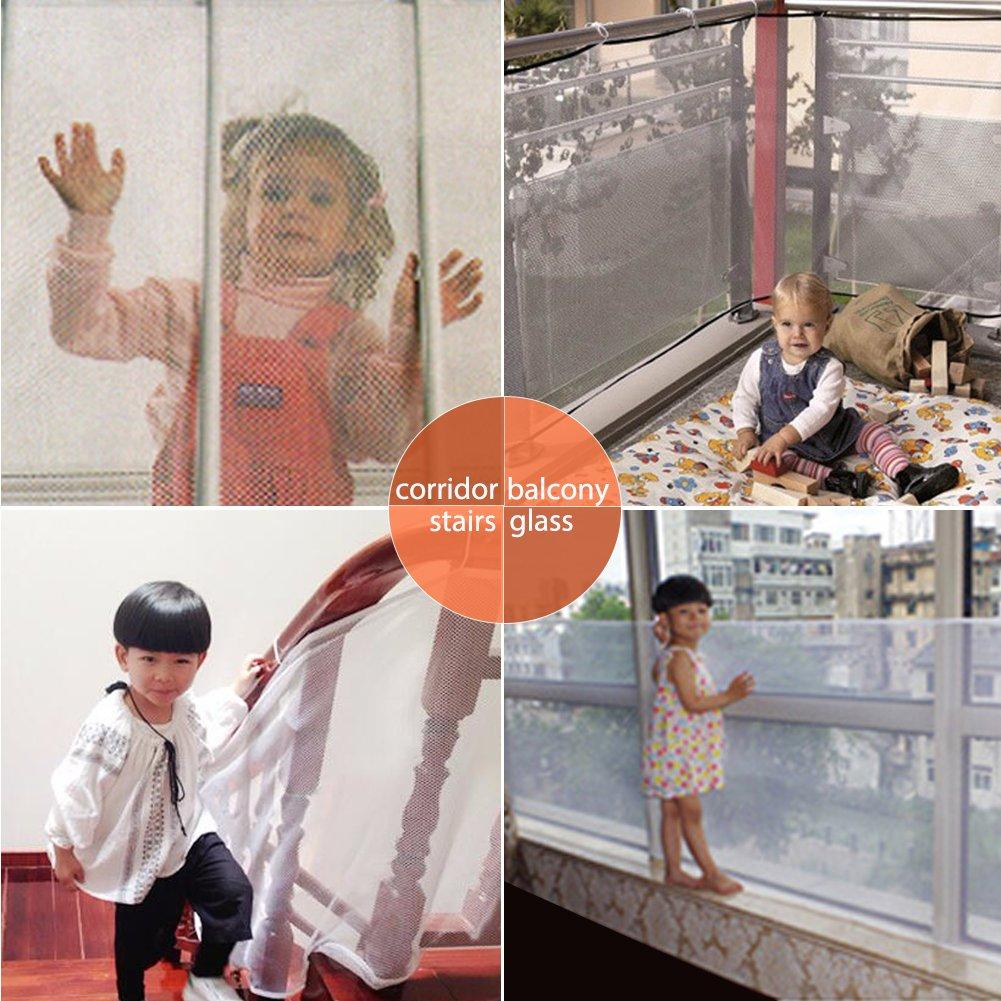 egoera Indoor /& Outdoor Sicherheit Net Kinder Sicherheit//Gel/änder Z/äune Stairway verwendet f/ür Balkon Sicherheit Schutz net-child Sicherheit; Pet Sicherheit; Sicherheit von Spielzeug; Treppen Displayschutzfolie