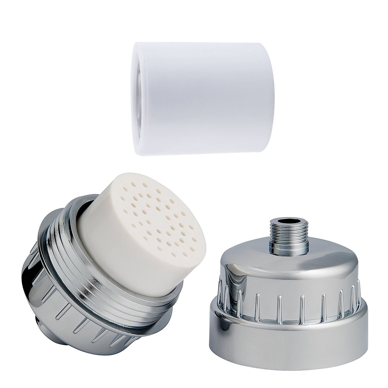 Cartucho de filtro de ducha filtro de agua reemplazable con múltiples alta salida cromado Universal conexión elimina el cloro, metales pesados rígida agua: ...