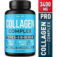 Collagen Pills - Multi-Collagen Peptides (Types I, II, III, V, X) - Collagen Vitamins...