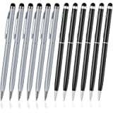 ORIbox Stylus Pen,12pcs Universal 2 in 1 Capacitive Stylus Ballpoint Pen for iPad,iPhone,Samsung,HTC,Kindle,Tablet,All Capaci