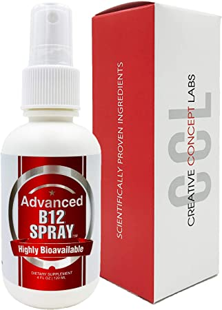 Vitamin B12 Complex Spray. Most Effective Delivery with Nano Technology Provides Instant Absorption. More Effective Than Pills, Powders, and Capsules (4 oz)