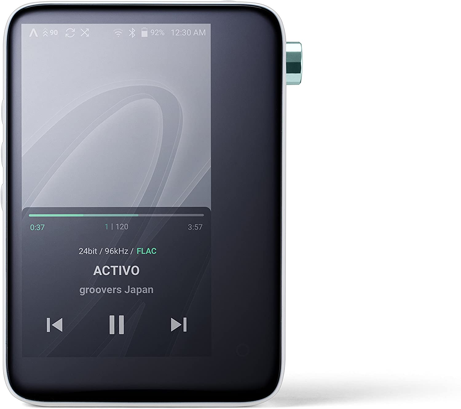 ACTIVO CT10 High Resolution Portable Music Player: Small, Stylish Design, MP3/Lossless Formats, Wi-Fi, BT, Streaming, 10 Hours of Playback (Cool White)