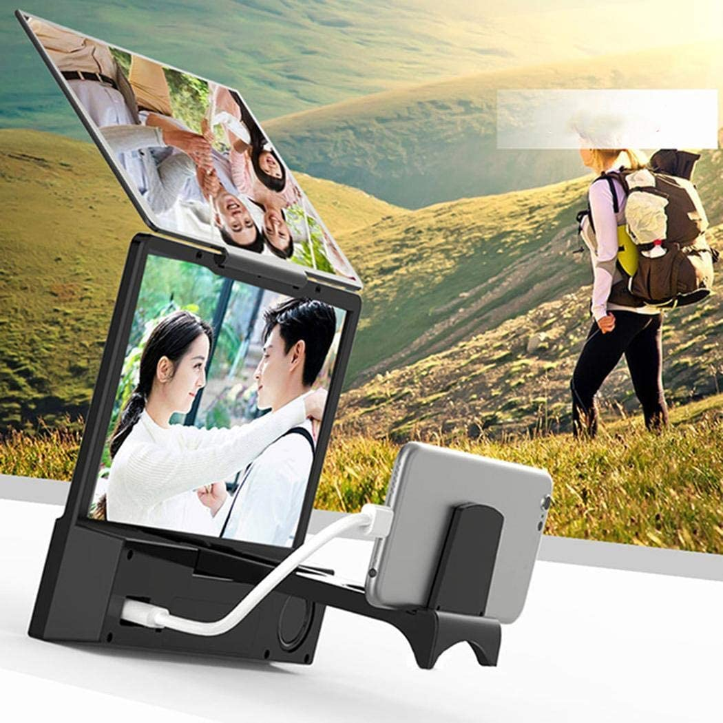 Xinnio Speaker Bluetooth Connection HD Lens Phone Screen Amplifier Stands